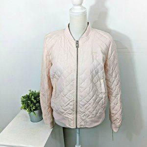 LEVI'S Diamond Quilted Bomber Jacket Pink NWT